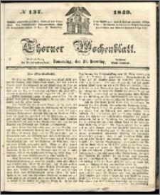 Thorner Wochenblatt 1849, No. 137 + Beilage