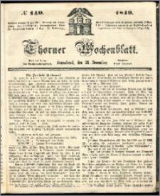 Thorner Wochenblatt 1849, No. 140 + Beilage
