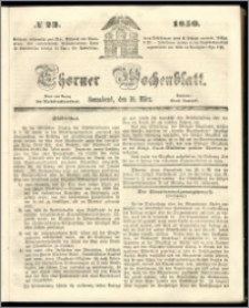 Thorner Wochenblatt 1850, No. 23 + Beilage