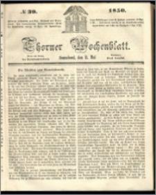Thorner Wochenblatt 1850, No. 39 + Beilage