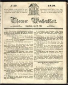 Thorner Wochenblatt 1850, No. 43 + Beilage