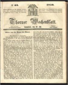 Thorner Wochenblatt 1850, No. 63 + Beilage