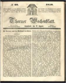 Thorner Wochenblatt 1850, No. 69 + Beilage
