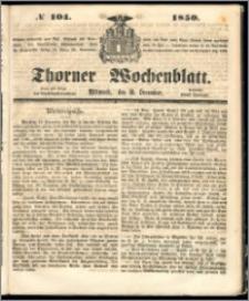 Thorner Wochenblatt 1850, No. 104 + Beilage