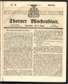 Thorner Wochenblatt 1851, No. 4