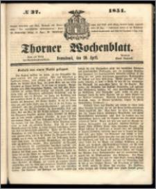 Thorner Wochenblatt 1851, No. 37 + Beilage