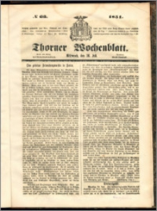 Thorner Wochenblatt 1851, No. 66