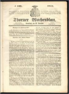 Thorner Wochenblatt 1851, No. 102 + Beilage