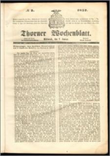 Thorner Wochenblatt 1852, No. 2