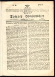 Thorner Wochenblatt 1852, No. 3
