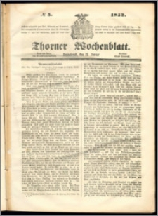 Thorner Wochenblatt 1852, No. 5
