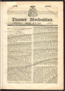 Thorner Wochenblatt 1852, No. 9