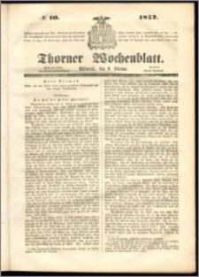 Thorner Wochenblatt 1852, No. 10