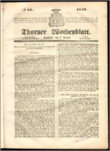 Thorner Wochenblatt 1852, No. 11