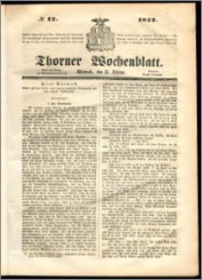 Thorner Wochenblatt 1852, No. 12