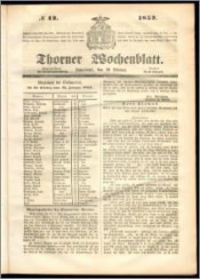 Thorner Wochenblatt 1852, No. 13