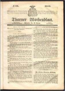 Thorner Wochenblatt 1852, No. 14