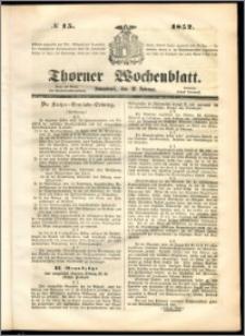 Thorner Wochenblatt 1852, No. 15