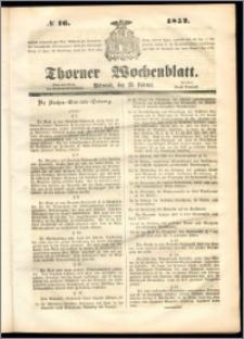 Thorner Wochenblatt 1852, No. 16