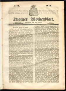 Thorner Wochenblatt 1852, No. 17