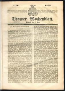 Thorner Wochenblatt 1852, No. 18