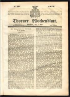 Thorner Wochenblatt 1852, No. 19