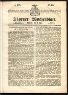 Thorner Wochenblatt 1852, No. 20