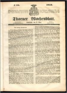Thorner Wochenblatt 1852, No. 21 + Beilage