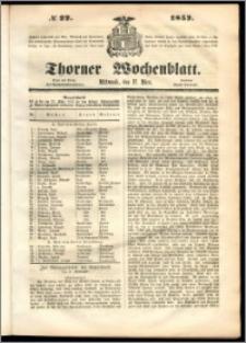 Thorner Wochenblatt 1852, No. 22