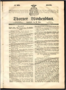 Thorner Wochenblatt 1852, No. 23