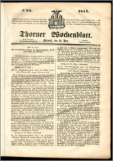 Thorner Wochenblatt 1852, No. 24