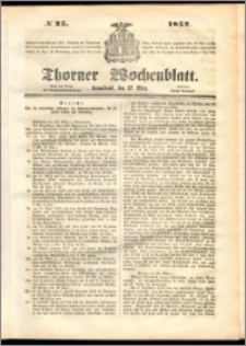 Thorner Wochenblatt 1852, No. 25