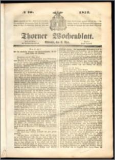 Thorner Wochenblatt 1852, No. 26