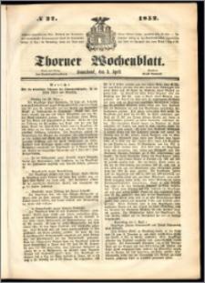 Thorner Wochenblatt 1852, No. 27