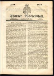 Thorner Wochenblatt 1852, No. 29