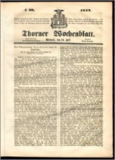 Thorner Wochenblatt 1852, No. 30