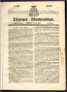 Thorner Wochenblatt 1852, No. 32