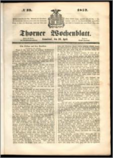 Thorner Wochenblatt 1852, No. 33 + Beilage