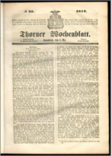 Thorner Wochenblatt 1852, No. 35