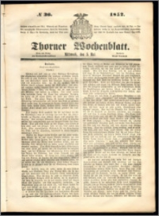 Thorner Wochenblatt 1852, No. 36