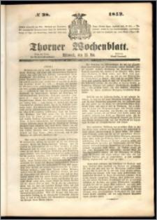 Thorner Wochenblatt 1852, No. 38