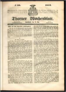 Thorner Wochenblatt 1852, No. 39