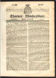 Thorner Wochenblatt 1852, No. 40