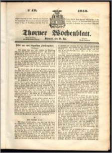 Thorner Wochenblatt 1852, No. 42