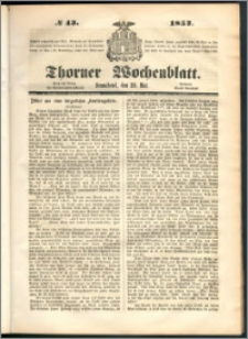 Thorner Wochenblatt 1852, No. 43