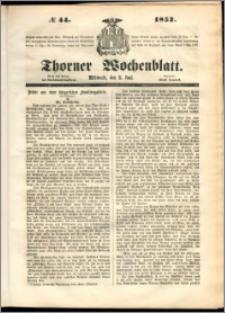 Thorner Wochenblatt 1852, No. 44