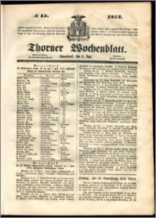 Thorner Wochenblatt 1852, No. 45 + Beilage