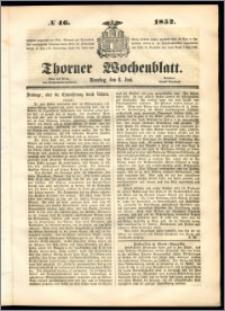 Thorner Wochenblatt 1852, No. 46