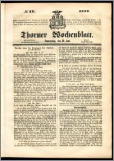 Thorner Wochenblatt 1852, No. 47