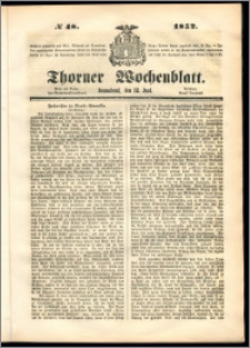 Thorner Wochenblatt 1852, No. 48